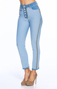 [Blue Age] Slim Straight Reversed High rise Ankle Jeans - Blueage Jeans