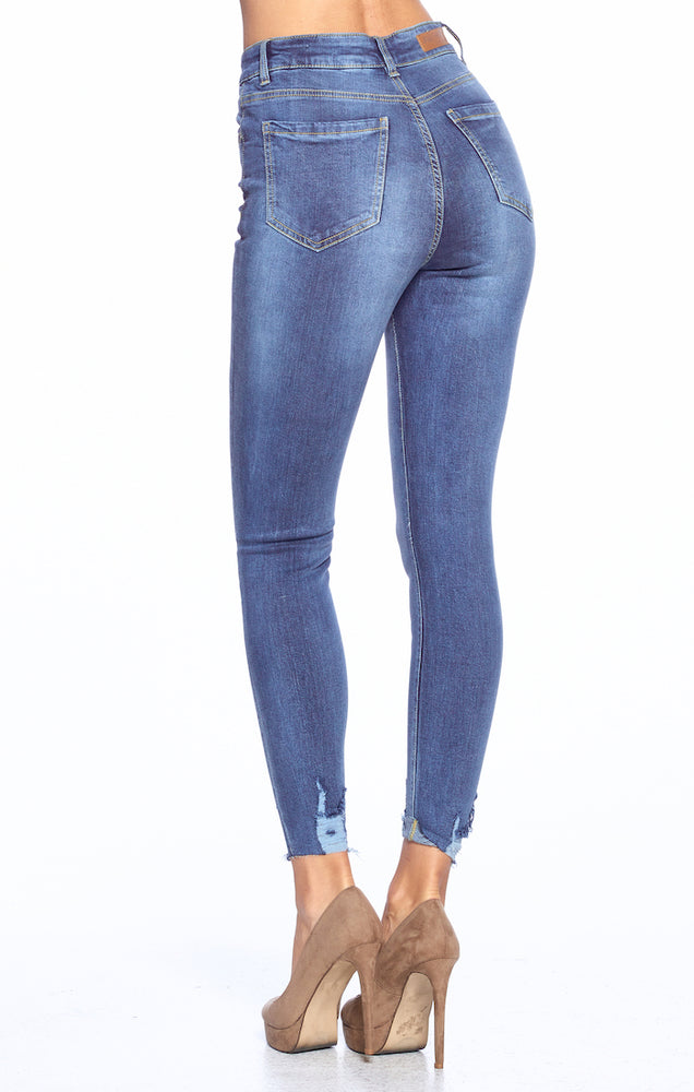 Load image into Gallery viewer, [Blue Age] High Waist Ankle Skinny Jeans - Blueage Jeans