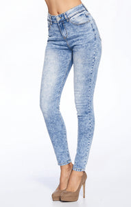 [Blue Age] Premium High Rise Basic Solid Jeans in Mineral Wash