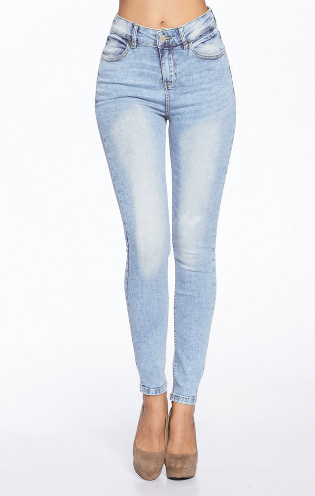 Load image into Gallery viewer, [Blue Age] Premium High Rise Basic Solid Jeans in Mineral Wash