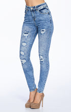 Load image into Gallery viewer, [Blue Age] High Rise Destroyed Skinny Jeans in Mineral Wash