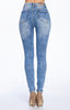 [Blue Age] High Rise Destroyed Skinny Jeans in Mineral Wash