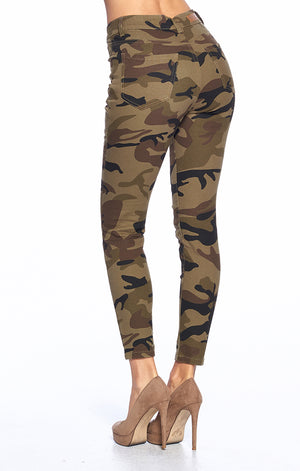 Load image into Gallery viewer, [Blue Age] Camo Print Skinny Jeans - Blueage Jeans