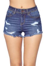 Load image into Gallery viewer, [Blue Age] Womens' Destroyed Denim Shorts - Blueage Jeans