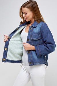 [Blue Age] Fleece Denim Jacket - Blueage Jeans