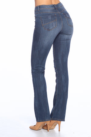 Load image into Gallery viewer, [Blue Age] Destroyed Skinny Bootcut Jeans - Blueage Jeans