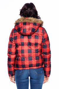 [Blue Age] Checker Puffer Jacket - Blueage Jeans