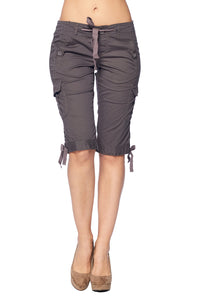 [Angel Kiss] Womens Knee Length Lightweight Shorts - Blueage Jeans