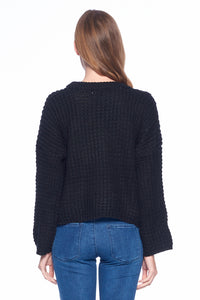 [Blue Age] Oversize Round Neck Sweater - Blueage Jeans