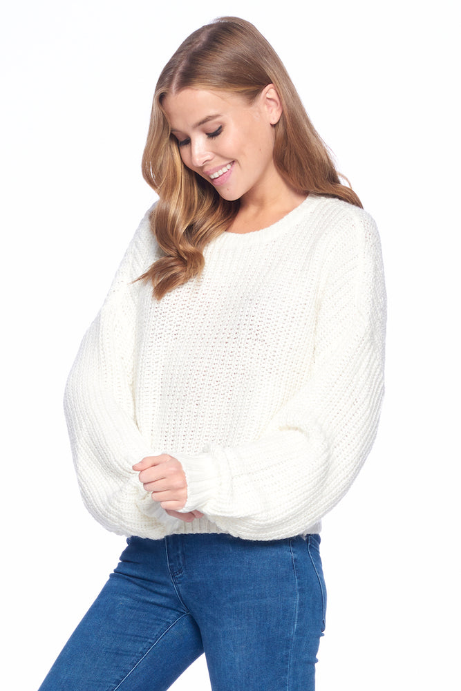 Load image into Gallery viewer, [Blue Age] Oversize Round Neck Sweater - Blueage Jeans