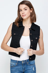 [Blue Age] Women's Colored Denim Vest Jean Top - Blueage Jeans