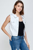 [Blue Age]Women's Colored Denim Vest Jean Top - Blueage Jeans