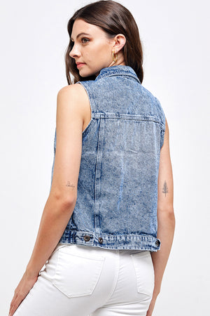 Load image into Gallery viewer, [Blue Age] Women's Solid Denim Vest Top