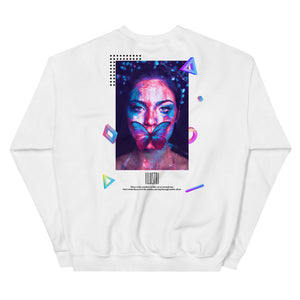Illustri Silent Wonders Crew Neck Sweatshirt (White)