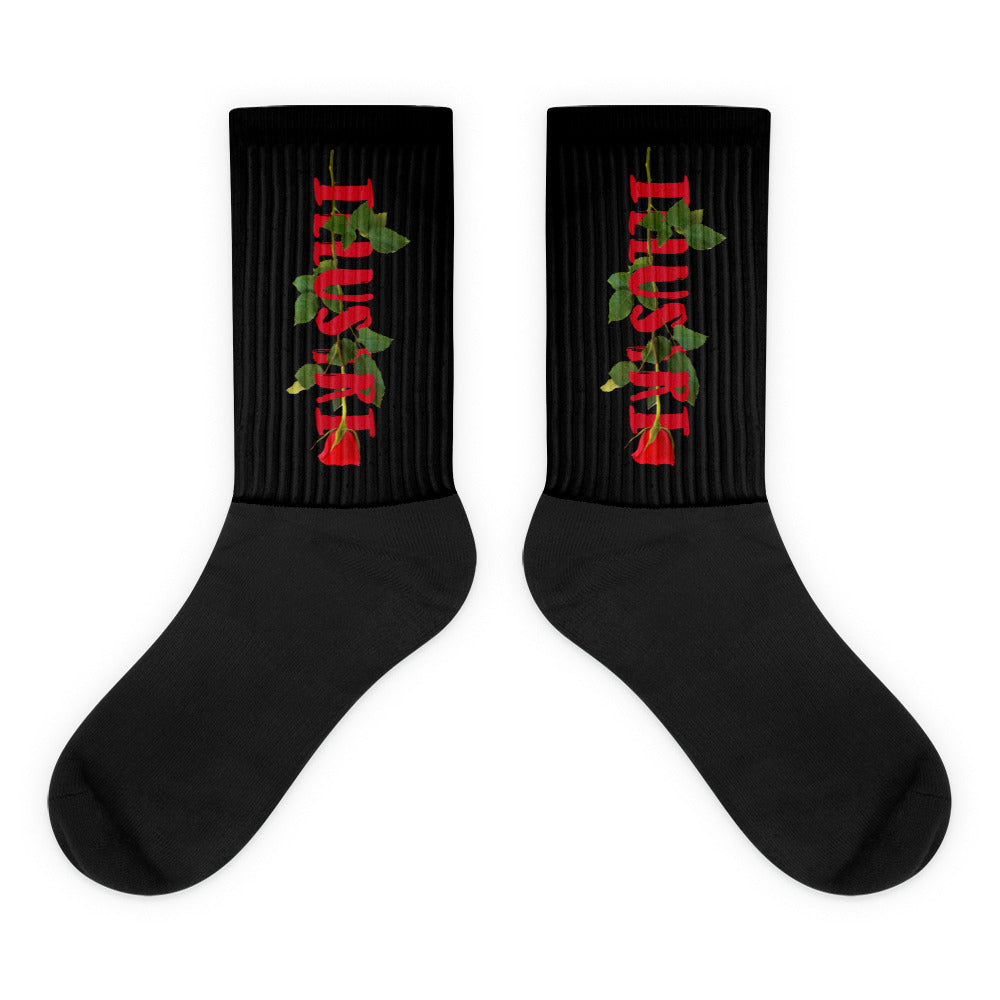 Illustri Artistry Rose Socks (Black)
