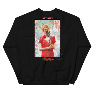 illustri Artistry Rose Crew Neck Sweatshirt