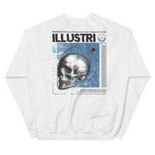Load image into Gallery viewer, Illustri Cyber Skull Crew Neck Sweatshirt