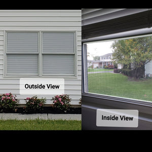 Horizontal Blinds (Applies to Exterior, Provides 1-way vision)