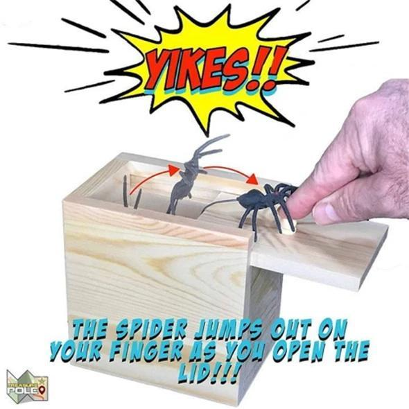 Wooden Spider Scare Prank Box-Only 50% Off Today