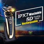 5 Heads Washable Rechargeable Electronic Shaver