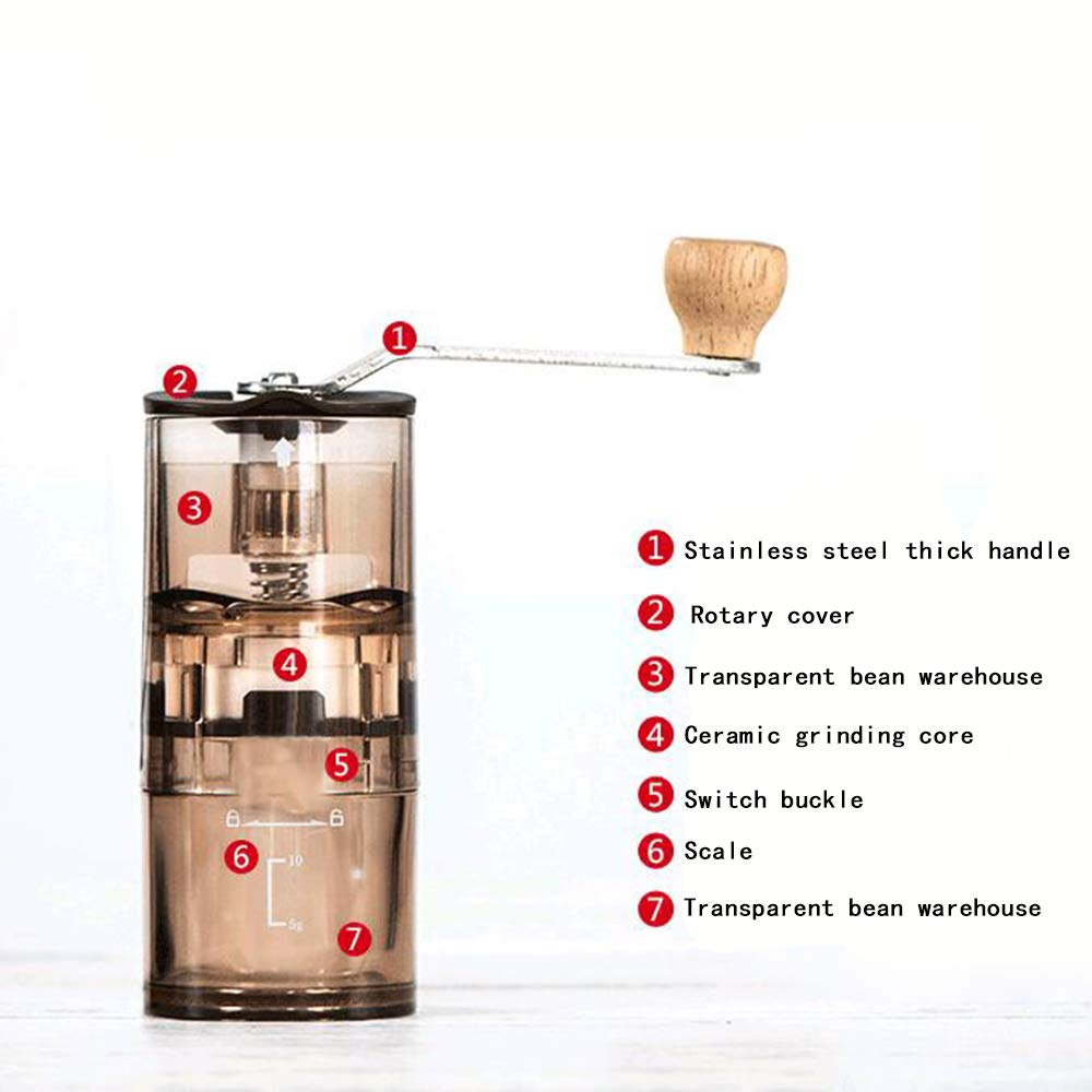 Transparent Acrylic Manual Coffee Grinder