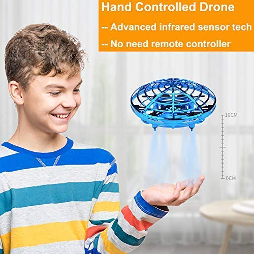 Infrared Induction Interactive Drone UFO Flying Toys with LED Light