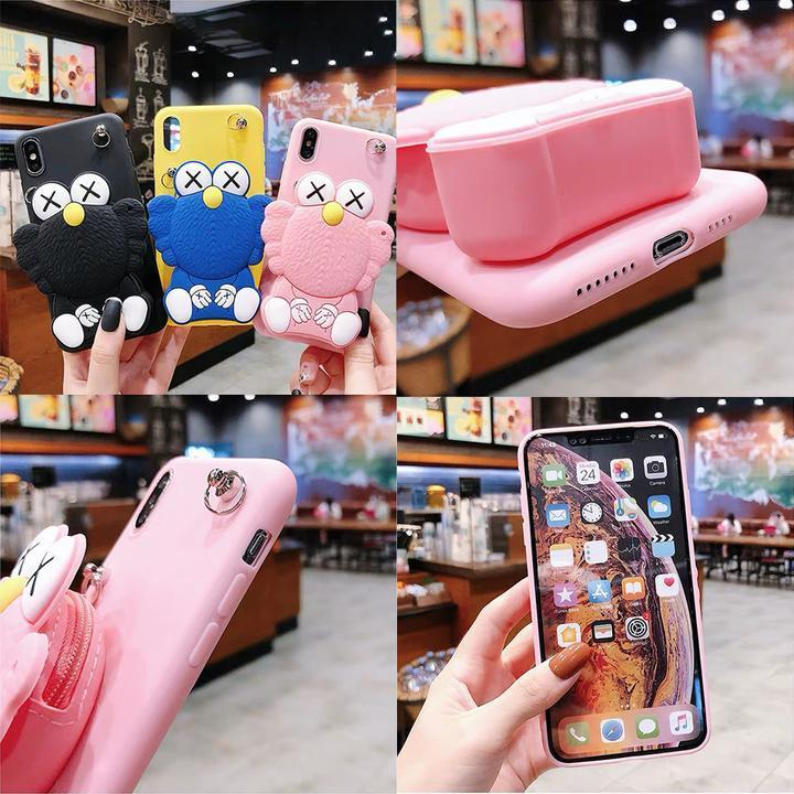 2019 new cartoon addition IPHONE compatible wallet miscellaneous goods coin purse smart phone case