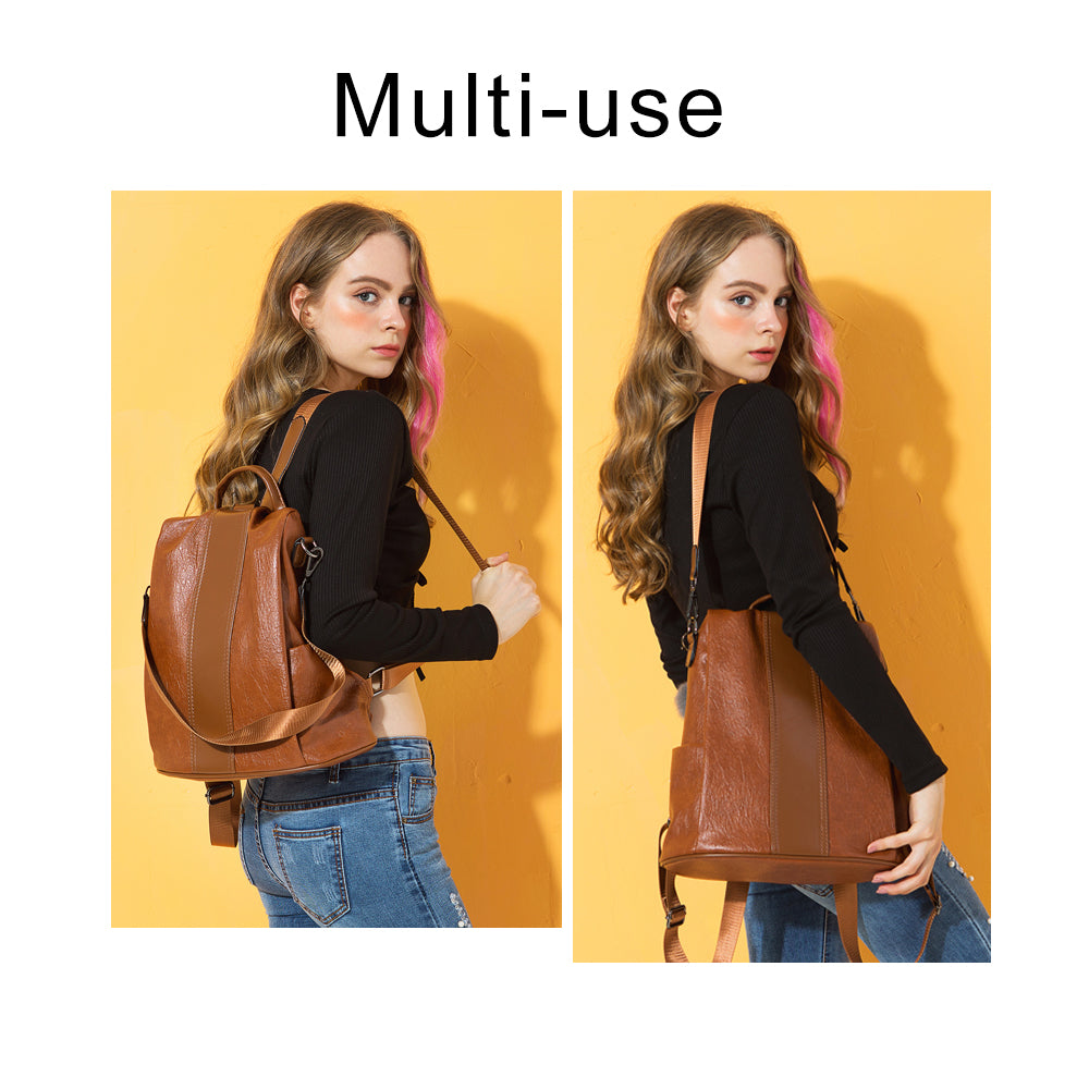 Fashion Women Anti-theft Backpack Waterproof Shoulder School Bag