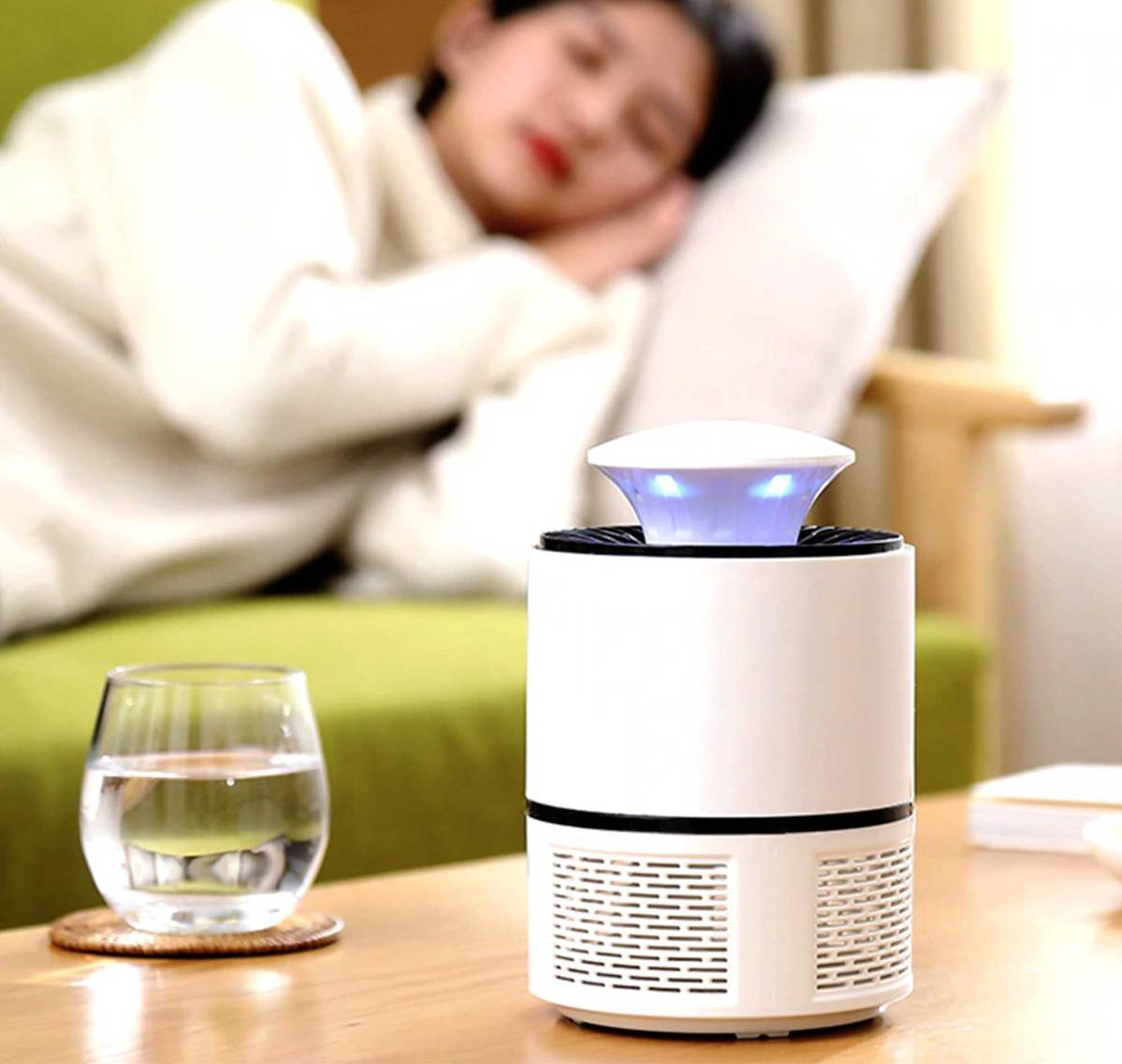 MOSQUITO BAIT Z™ - USB POWERED LED MOSQUITO KILLER LAMP [QUIET + NON-TOXIC]