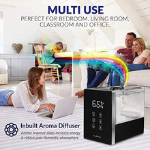 Load image into Gallery viewer, Air Humidifier for Bedroom Top Fill 6L Large Capacity for Large Room Warm& Cool Mist Ultrasonic Humidifier with Humidistat, Essential Oil Diffuser for Home, Living Room, Baby Room - 40H Humidifying