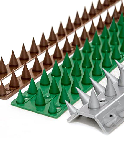 Buy anti climb spikes for walls, fences and gates to deter cats and intruders.