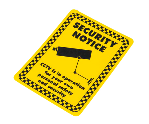 Security Notice Sign (150x200mm)
