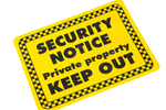 Security Notice Sign - 150x200mm