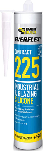 Everbuild EVB225 Industrial and Glazing Silicone - Brushed Steel - 310ml 225