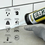 Everbuild EB25 Ultimate Sealant & Adhesive 300ml – Clear