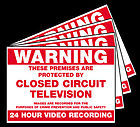 4 x Warning CCTV Stickers (100mm x 80mm)