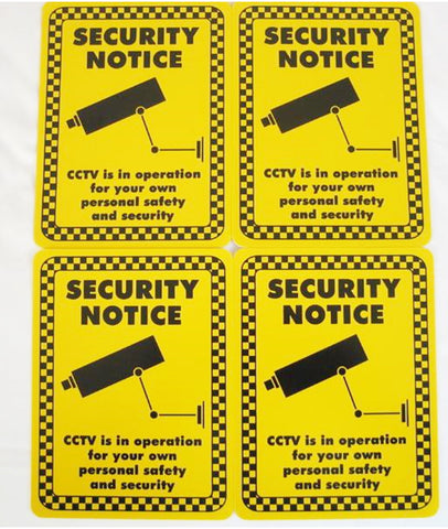 CCTV - Premises Under Surveilance Sign (150x200mm) x 4