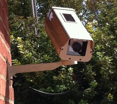 Large Solar Powered Dummy Security Camera