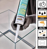 Everbuild Everflex Aqua Mate Aquarium Silicone Sealant - Transparent - 295 ml