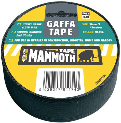 Everbuild Gaffa Tape, 50 mm x 45 m, Black