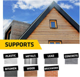 Everbuild Black Jack Flashing Trade Tape, Lead Look, 150 mm x 3 m