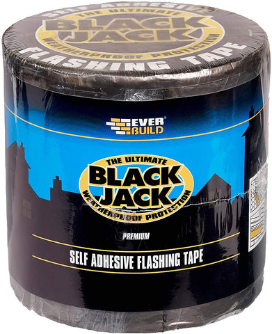 Everbuild Black Jack Flashing Trade Tape, Lead Look, 225 mm x 3 m