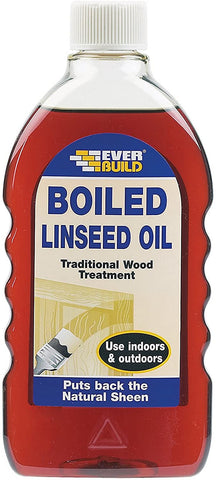 Everbuild EVBBOILLIN Boiled Linseed Oil, 500ml