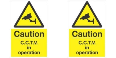 2 x Security Camera Warning Signs - 300 x 200mm (A4) Weather Proof