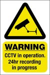 Security Camera - Warning Sticker - 150 x 200mm