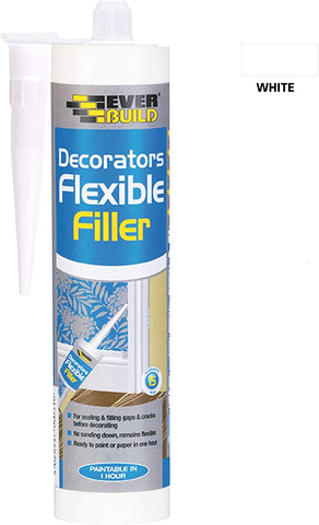 Everbuild Flexible Decorators Filler, White, 290 ml
