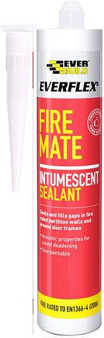 Everbuild Everflex Fire Mate Intumescent Acrylic Sealant, Grey, 295 ml