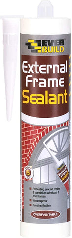 Everbuild External Frame Acrylic Sealant, White, 290 ml