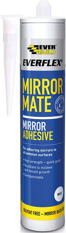 Everbuild Everflex Mirror Mate Mirror Adhesive, White, 290 ml