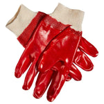 Pair Heavy Duty PVC Gloves Size 9 Large Rubber Safety Gloves Knitted Wrist DIY